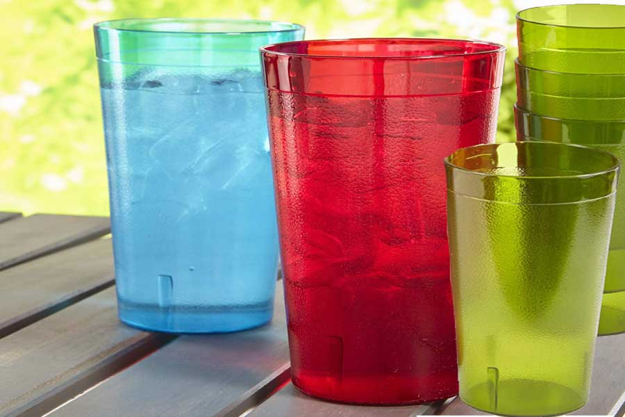 plastic drinking glasses that look like glass
